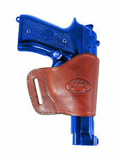 Barsony Burgundy Leather Yaqui Gun Holster for Smith&Wesson 9mm 40 45 Full Size