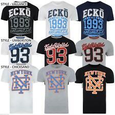 NEW MENS ECKO UNLTD GRAPHIC LOGO PRINT CREW NECK TEE T SHIRT - 3 STYLES