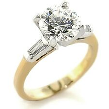 18ct Gold (GP) Engagement Ring Set with 2CT Cubic Zirconia. CJ604