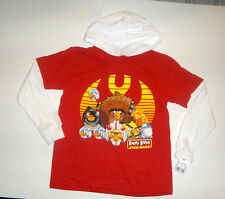 Star Wars Angry Birds Boys Long sleeve Hooded Shirt Size-M 7-8 and XL 14-16 NWT