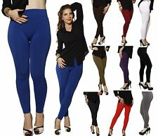 ONE SIZE HIGH WAISTED Skinny Fur Fleece Lined Warm Leggings Stretch Pant Tights