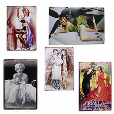 Vintage Style Girl's Picture Tin Sign Bar Pub Hotel Room Wall Metal Decor Poster