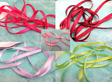 5  Metres Of Double Sided Satin Ribbon 10 mm For £1.50...24 Colours Free UK Post