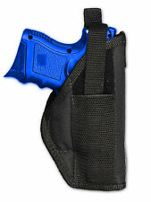 Barsony OWB Gun Belt Holster for Smith & Wesson M&P Compact, Sub-Comp 9mm 40 45