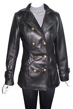Big Woman & All Size 4100 Best Leather Pea Coats Ladies Business Clothing Real