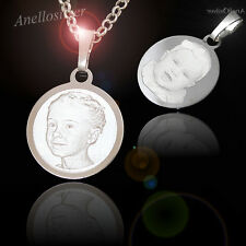 Sterling silver 925 pendant with Photo Images Engraving Dog Tag Christmas Gift