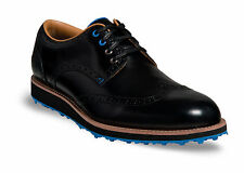 Callaway Master Staff Brogue Black/Black Men's Golf Shoes 2014 M565-0 New