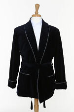 Velvet Smoking Jacket - NAVY