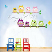 1xFour Owl Butterfly Tree Removable Vinyl Decal Wall Sticker Home Decor Kid Room