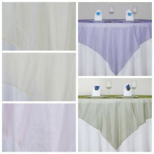 "10 pc 72x72"" Sheer Organza Table Overlays Wedding Party Decorations Wholesale"