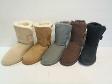 Sheepskin Ugg Boots - Childrens Short 1 Button Boot