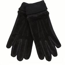 Warmen Men's Pigskin Suede Leather Winter Warm Gloves Long Fleece Lining