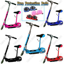 New Kids Electric E Scooter 120W Ride On Toy Battery Rechargeable Removable Seat
