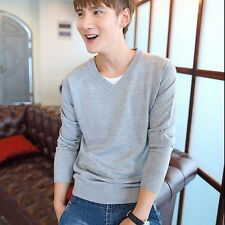 Mens Fashion Slim Stylish Fit V-neck Knitted Sweater Tops Cardigan 6 Color MZM05