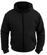 NEW CE Armoured Mens Motorcycle Sports 100% Full Kevlar Protection Black Hoodie