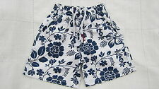 LITTLE WHITE COMPANY BOYS HIBISCUS BLUE SWIM BOARD SHORTS 2 3 4 5 6 7 8 BNWOT
