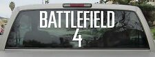 Battlefield 4 Logo Sticker Decal Vinyl - Var. Sizes and Colors - Style 1 Solid