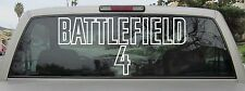 Battlefield 4 Logo Sticker Decal Vinyl - Var. Sizes and Colors - Style 2 Stencil