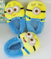 ★★ Despicable Me Minion Jorge Monsters Cosplay Adult Slippers Plush Toy Shoes 3D