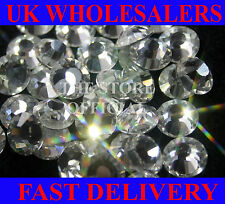 Flat back resin rhinestones Crystal clear 14 Facet Premium x2000 Limited time