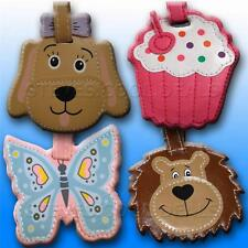 Luggage Tags Holiday Travel Bag Tag Cupcake Puppy Dog FUN BAGGAGE NAME ADDRESS