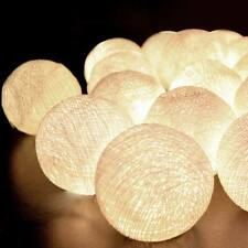 Aladin 20 White/Off White Cotton Balls String Lights Fairy,Home/Patio Deco UK