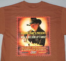WILLIE NELSON -HOUSE OF BLUES DALLAS TEXAS+ NEW ORLEANS-----CONCERT T-SHIRT!!!!!