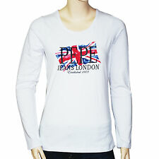 PEPE JEANS LONDON T shirt manches longues regular blanc femme taille M