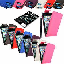 FOR VARIOUS PHONES NEW PU LEATHER MAGNETIC FLIP CASE COVER POUCH  + GUARD+STYLUS