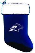 University of Akron - Chirstmas Holiday Stocking Ornament - Blue