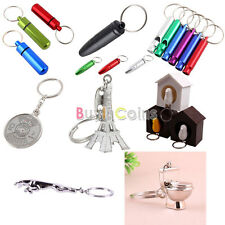Pill Keychain Survival Whistle Calendar Eiffel Tower Bird House Key Chain Jaguar