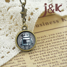 Robot Vintage Handmade Charm/3 Options:Cell Phone MP3 Strap/Dust Plug/Keyring