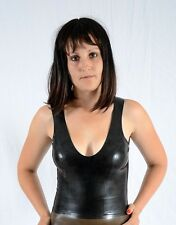 LATEX RUBBER TOP TANK UNISEX SISSY TV