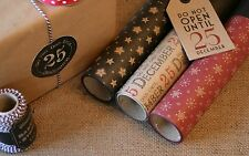 East of India 3m / 8m Roll Vintage Christmas Brown Paper Wrapping Recycled Wrap