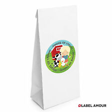 10 PERSONALISED Birthday Party Favour Age Farm Animals Girl Loot Paper Bags