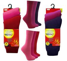 KIDS GIRLS RED TAG 3 PAIRS WARM WINTER HEAT SOCKS THERMAL THICK TOG 1.2