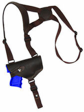 NEW Barsony Horizontal Brown Leather Shoulder Holster Steyr Walther Comp 9mm 40
