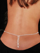 NEW! SEXY BELLY CHAIN SILVER CRYSTAL RHINESTONE Butterfly Heart Lower Back Waist