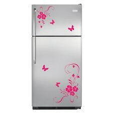Flower Butterfly Refrigerator Wall Stickers Wall Art Decal Vinyl Kitchen Home
