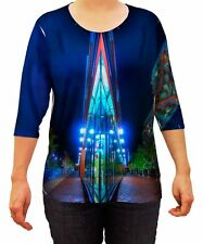 Yizzam- Distillery District Corner Toronto - New Ladies Womens 3/4 Sleeve XS S