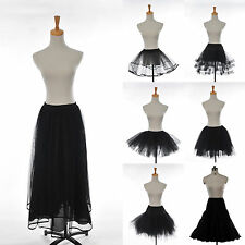 7 Styles Sexy Black Prom Silps Crinoline Bridal Petticoat Underskirt Tulle