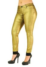 Michelle Gold Glitte Cropped Jeans --- Poetic Justice Jeans for Curvy Women
