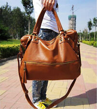 New Korean Hobo PU Leather Handbag Cross Body Shoulder Bag Large Capacity