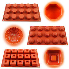 15-cavity Food-Grade Silicone Chocolate Cake Mold Cookies Soap Jelly Candy Tray