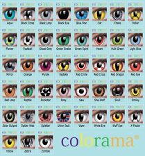 Farbige Kontaktlinsen Crazy Contact Lenses COLORAMA Karneval Part 2