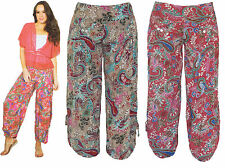 FILO Paisley and Floral Print Cotton Resort Pants New SIZES 8 10 12 14 16 18