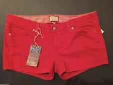 """$129 Paige Premium Canyon Pomodoro Red Wash 2"""" Stretch Color Denim Jeans Shorts"""