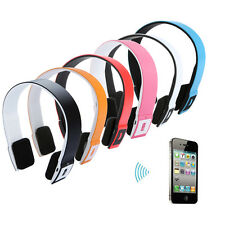 New Portable Wireless Bluetooth Headset Stereo Headphone Earphone 2.4G V3.0 +EDR