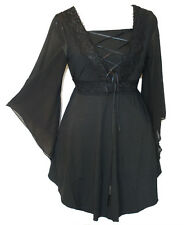 Women Plus Size Black lace Corset Party Tunic Top Size 12 14 16 18 20 22 24 NEW