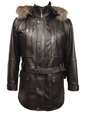 2037 Hooded Leather Coats The Parka Fur Trim Tall Big Bigger Larger All Size